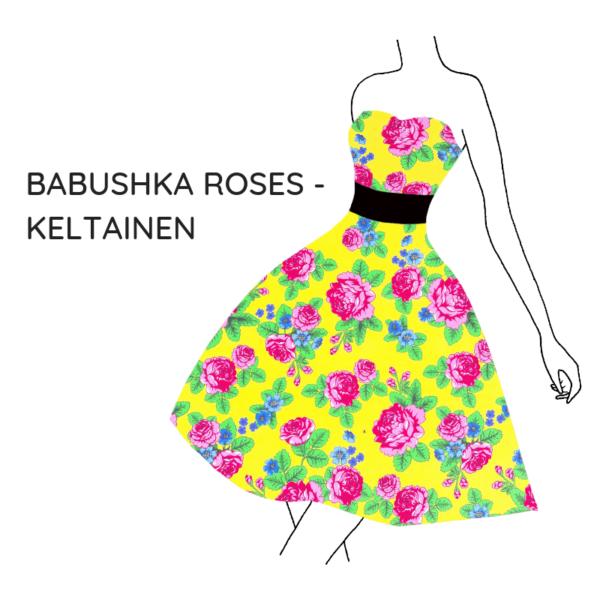 Kankaat babushka roses keltainen