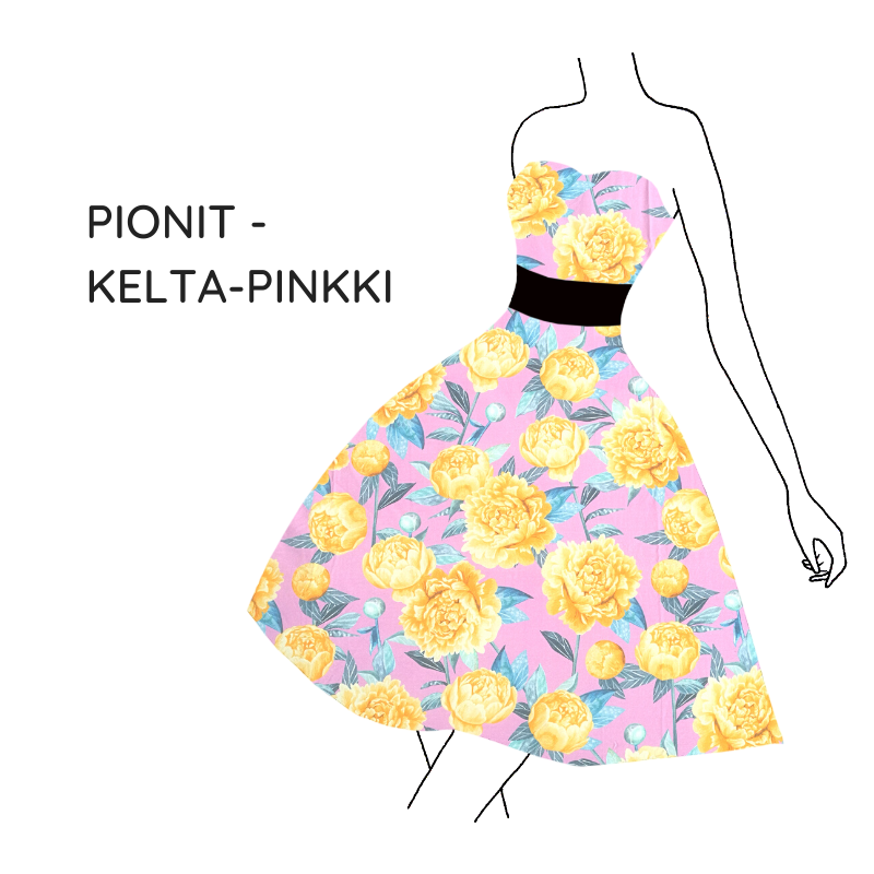 Pionit-pinkki-keltainen